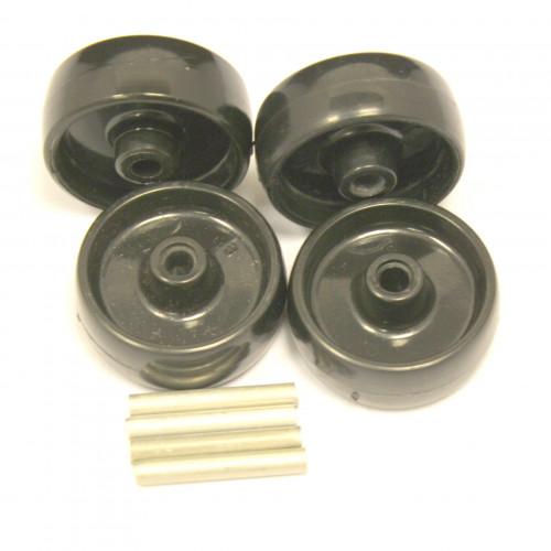 Polyhatch wheels & axles (set of 4)